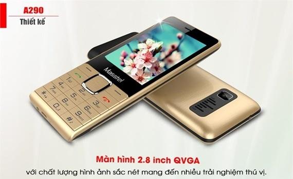 Điện thoại Masstel A290 màu vàng hiển thị tương đối rõ nét