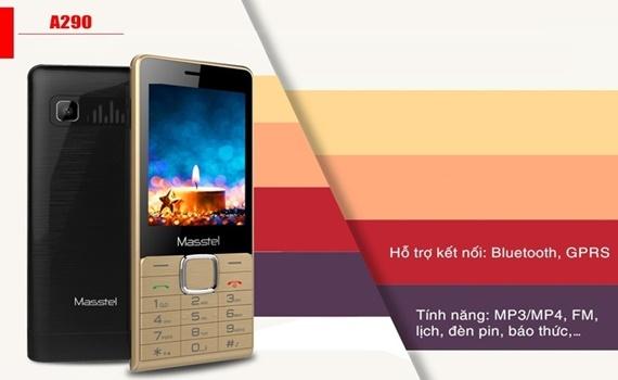 Điện thoại Masstel A290 màu vàng hoạt động ổn định