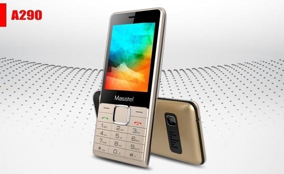 Điện thoại Masstel A290 màu vàng thiết kế nhỏ gọn dễ mang theo