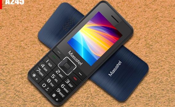 Điện thoại di động Masstel A245 màu xanh thiết kế 2 sim tiện lợi