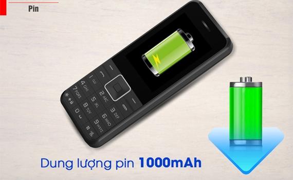 Điện thoại di động Masstel A245 màu xanh tuổi thị Pin siêu dài