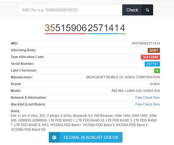 Nhập số IMEI vào ô yêu cầu trong trang web và nhấn Check. Tất tần tật mọi thông tin về điện thoại của bạn sẽ được hiện ra