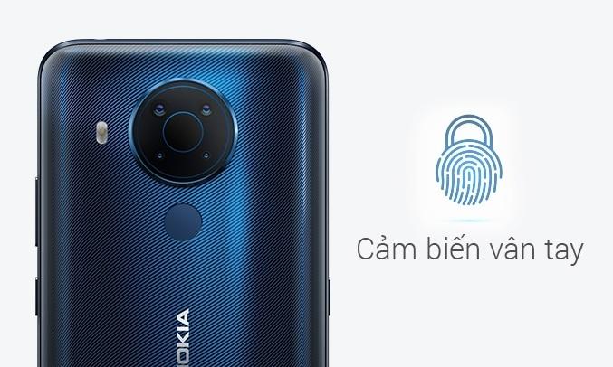 Điện thoại Nokia 5.4 Xanh - Cảm biến vân tay