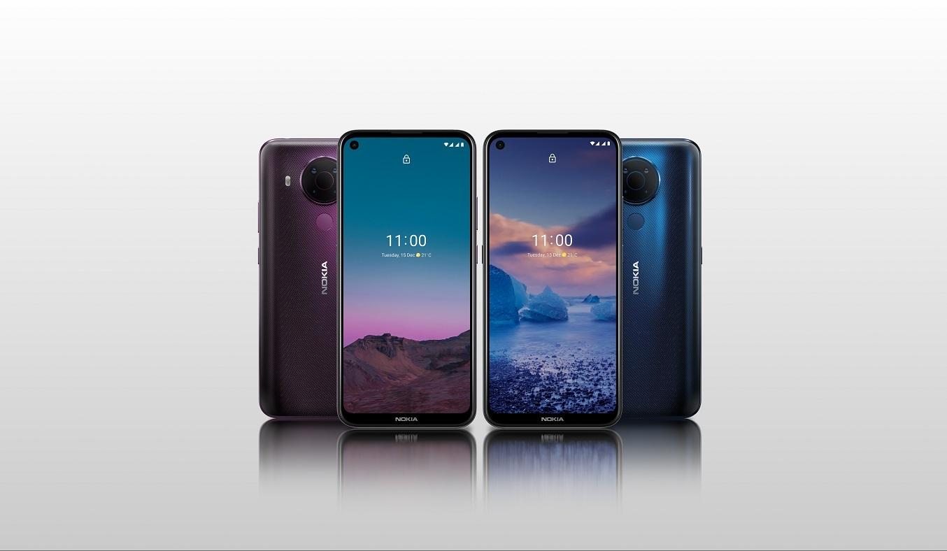 Điện thoại Nokia 5.4 Xanh - Thiết kế sang trọng, bắt mắt