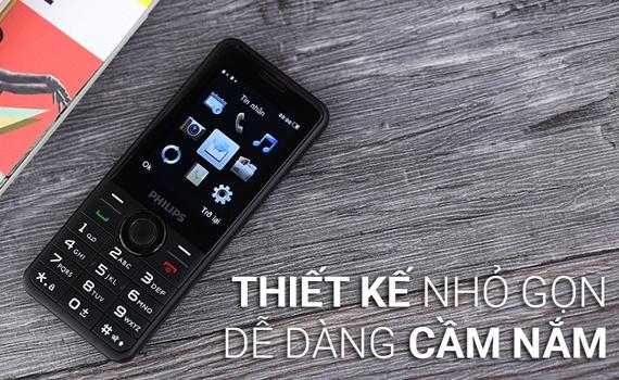 Điện thoại di động Philips E316 thiết kế 2 sim tiện lợi