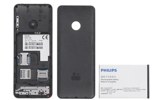 Điện thoại di động Philips Xenium E168 thiết kế nhỏ gọn