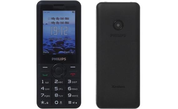 Điện thoại di động Philips Xenium E168 bàn phím T9 đàn hồi tốt
