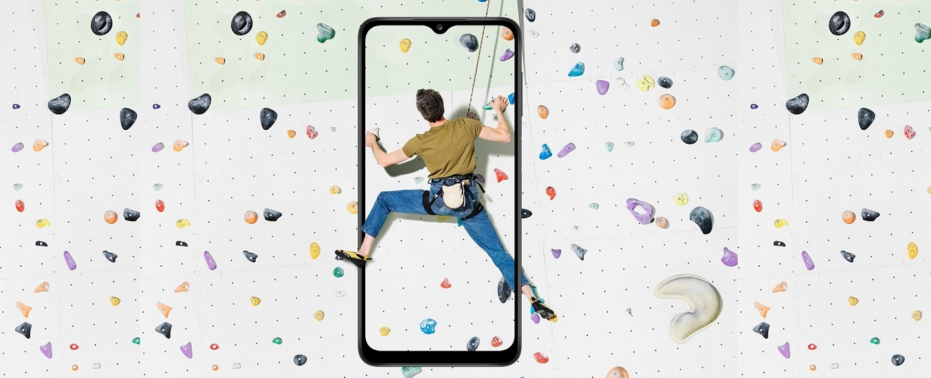 Điện thoại Samsung Galaxy A12 128GB Xanh - Màn hình rộng