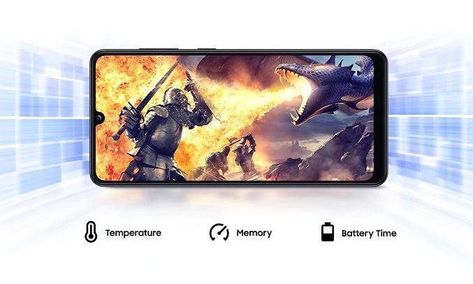 Điện thoại Samsung Galaxy A31 Đen Chơi game sống động với chế độ Game Booster