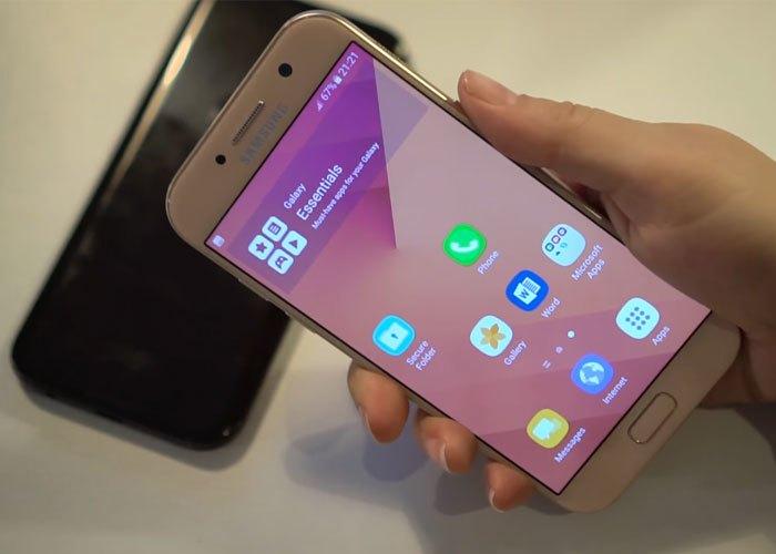 Điện thoại Samsung Galaxy A5 2017 màu vàng với màn hình FHD cực nét