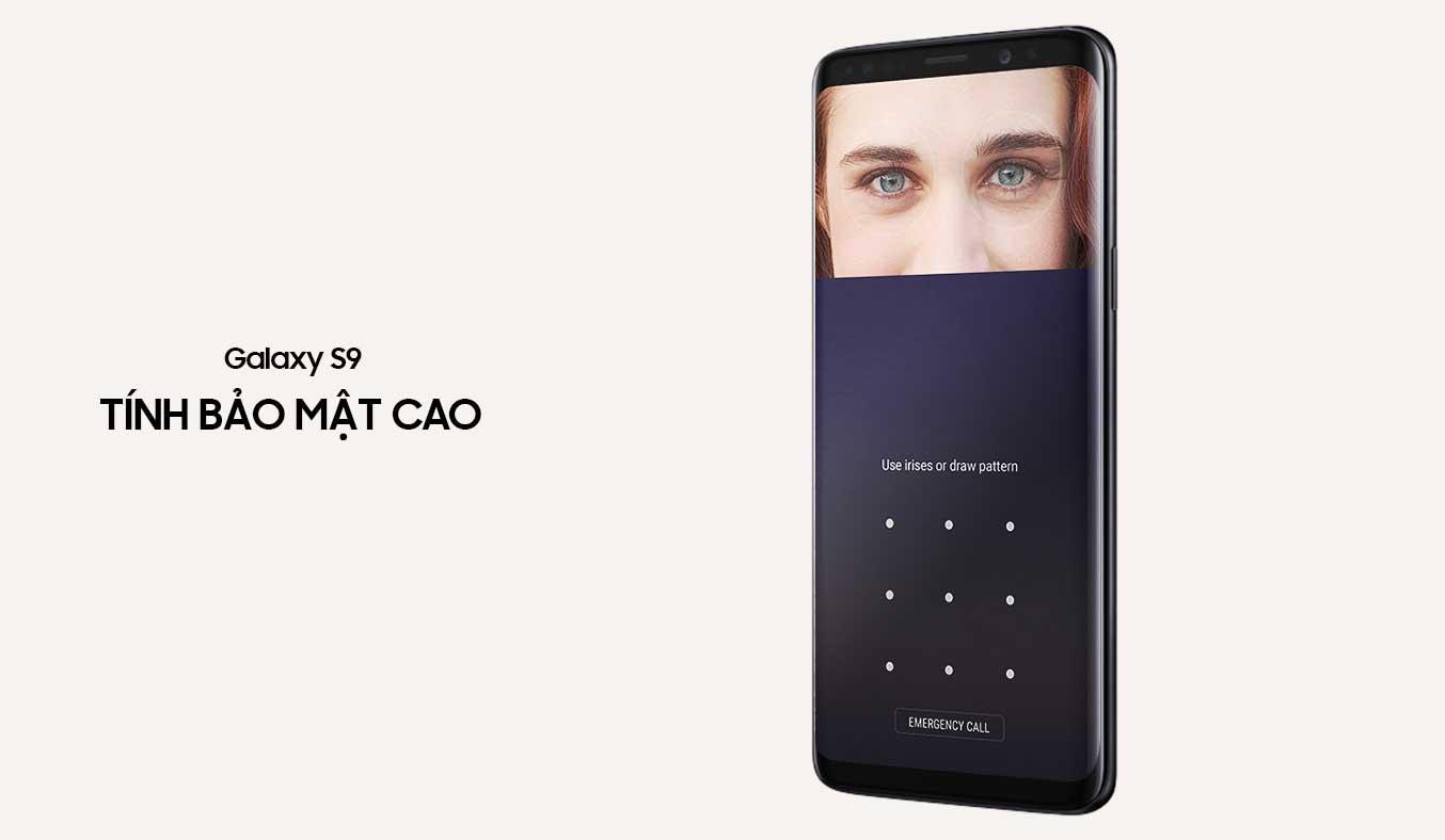 Samsung Galaxy S9 Đen khả năng bảo mật cao