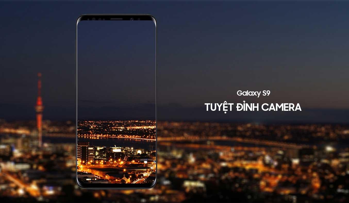 Samsung Galaxy S9 Đen camera chụp ảnh siêu nét