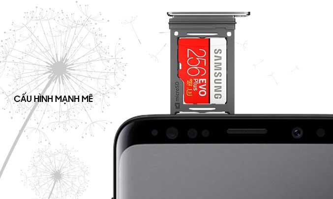 Samsung Galaxy S9 đen hiệu suất mạnh mẽ