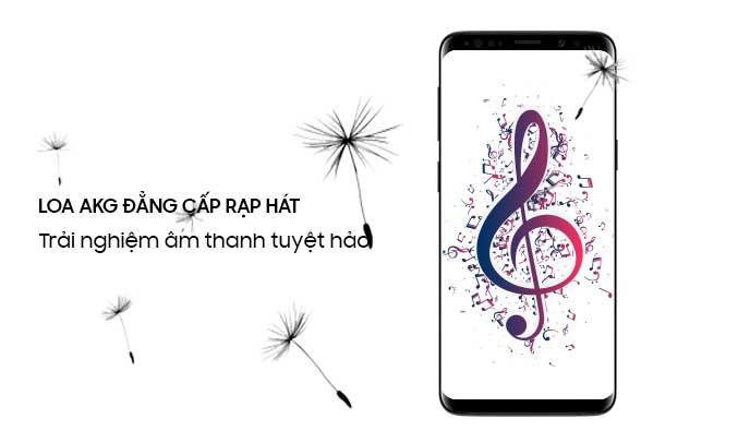 Samsung Galaxy S9 Plus đen hệ thống âm thanh đỉnh cao