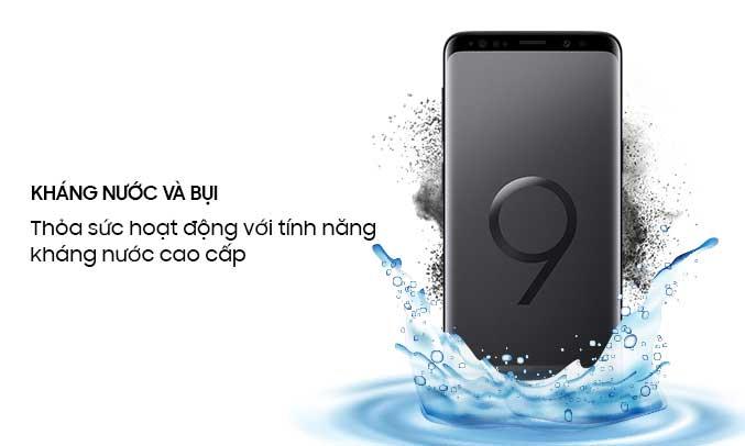 Samsung Galaxy S9 Plus đen chống nước, chống bụi tốt