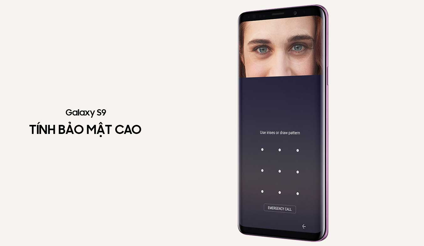 Samsung Galaxy S9 tím khả năng bảo mật cao