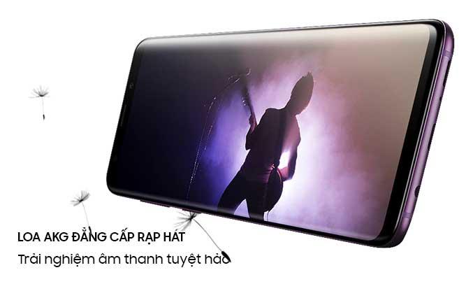 Samsung Galaxy S9 Plus tím hệ thống âm thanh đỉnh cao