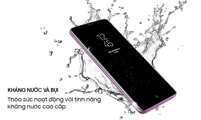 Samsung Galaxy S9 tím chống nước, chống bụi tốt