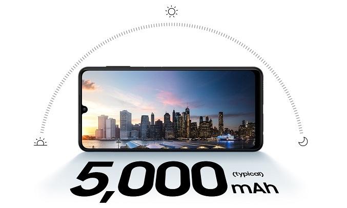 Điện thoại Samsung Galaxy A22 6GB/128GB Xanh - Dung lượng pin 5000mAh