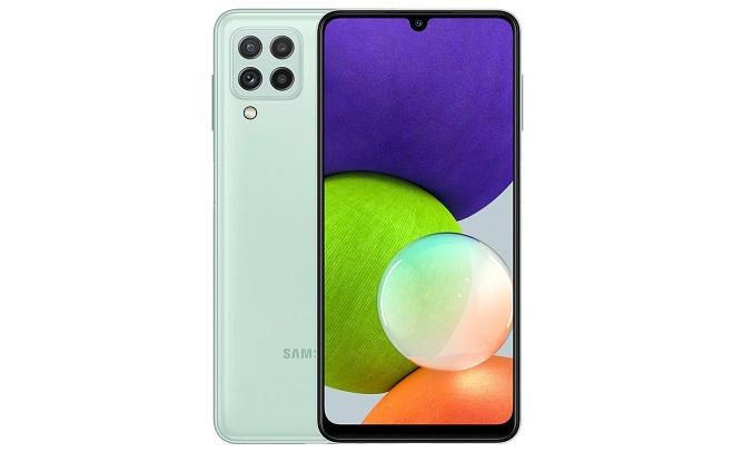 Điện thoại Samsung Galaxy A22 6GB/128GB Xanh- Thiết kế