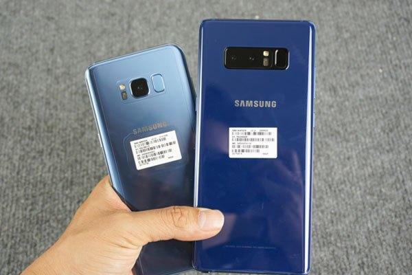 Sự khác biệt màu sắc giữa Galaxy Note 8 và Galaxy S8