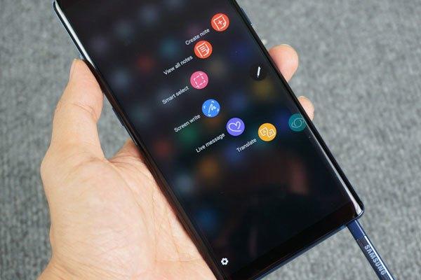 Bút S Pen trên Galaxy Note 8 được cải tiến sáng giá