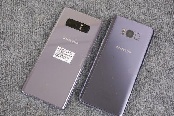 So sánh màu sắc Galaxy Note 8 và Galaxy S8 Plus