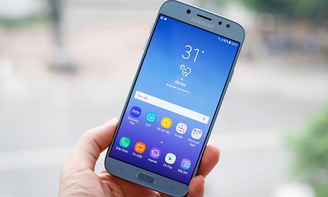 Sua Samsung J7 Pro chay muc man hinh