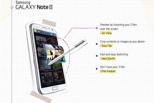 Galaxy Note 2 với trang bị S-Pen tích hợp hàng loạt những tính năng mới
