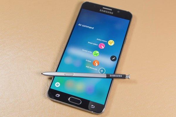 Giao diện Air Command trên bút S-Pen của Galaxy Note 5 cũng tối giản và trực quan hơn