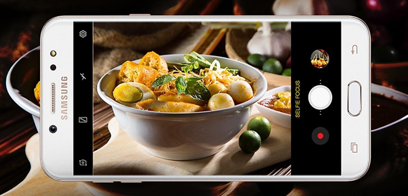 Samsung Galaxy J7+ Vàng (SM-C710F/DS) camera kép chuẩn nét