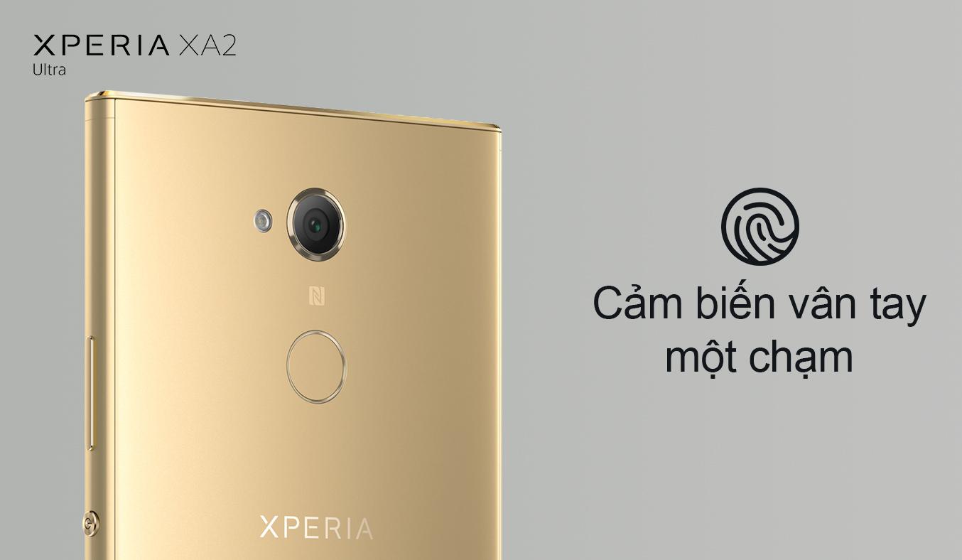 Điện thoại Sony Xperia XA2 Ultra màu vàng chụp ảnh sắc nét