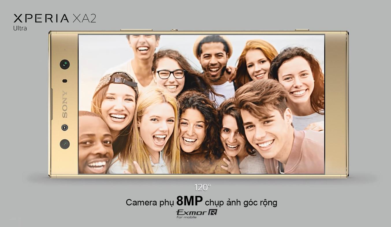 Điện thoại Sony Xperia XA2 Ultra màu vàng sang trọng