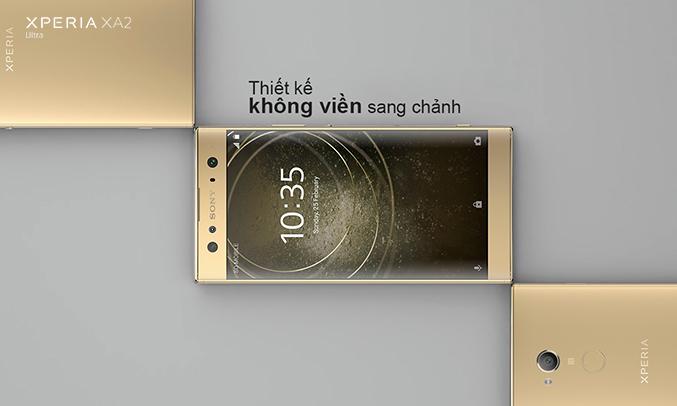 Điện thoại Sony Xperia XA2 Ultra màu vàng viền mỏng