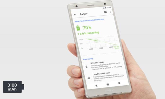 Điện thoại Sony Xperia XZ2 màu bạc tốc độ cao