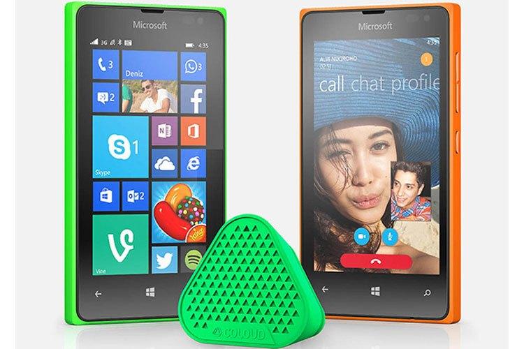 Kích thước màn hình điện thoại Microsoft Lumia 4.0 inches giúp người dùng dễ mang theo bên mình