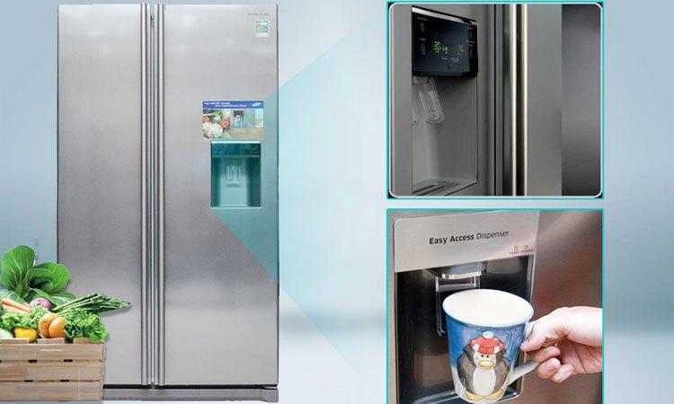 Tủ lạnh Samsung RSA1WTSL1 được trang bị ngăn lấy nước bên ngoài