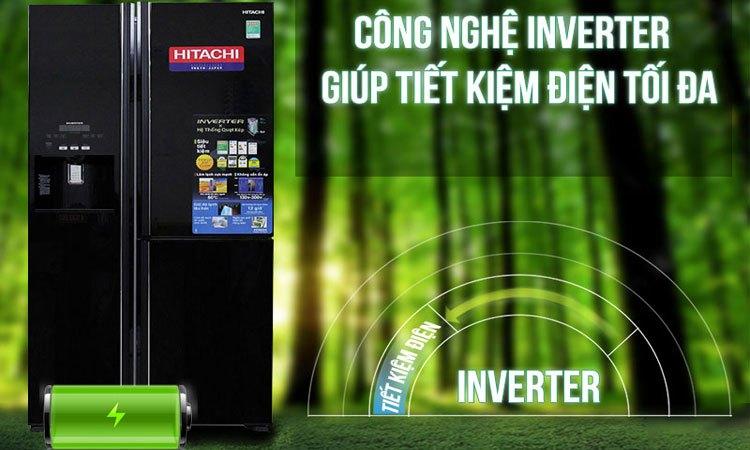 Với công nghệ Inverter hiện đại, tủ lạnh Hitachi R-M700GPV2 giúp bạn tiết kiệm một khoảng chi phí điện năng đáng kể