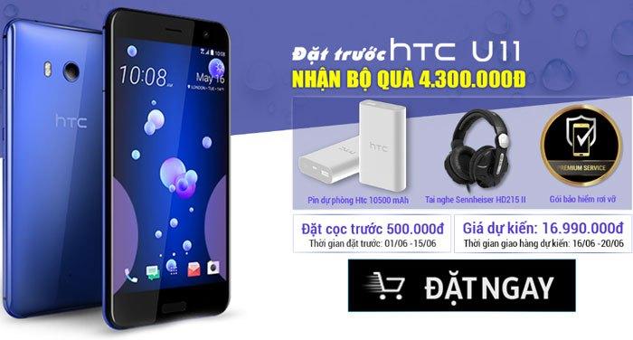 Đặt trước điện thoại HTC U11 tại Nguyễn Kim, nhận quà hấp dẫn