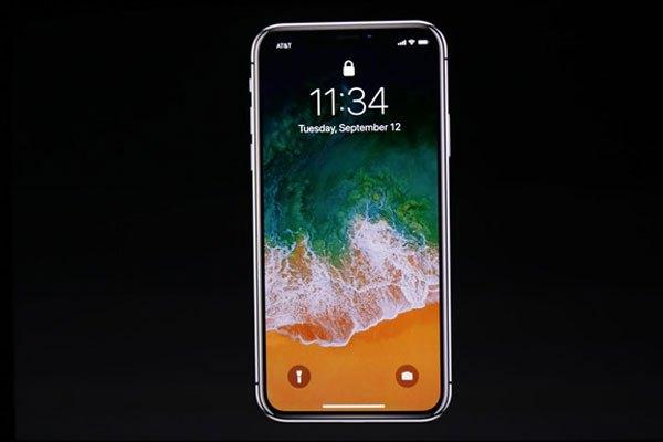 iPhone X có màn hình không viền