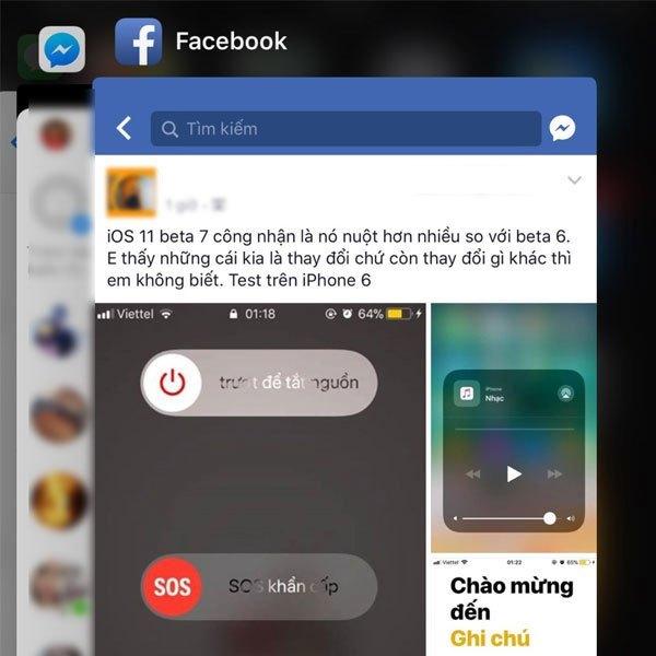 Với iOS 11 Beta 7, đa nhiệm không còn gắn với sự xuất hiện của màn hình chính
