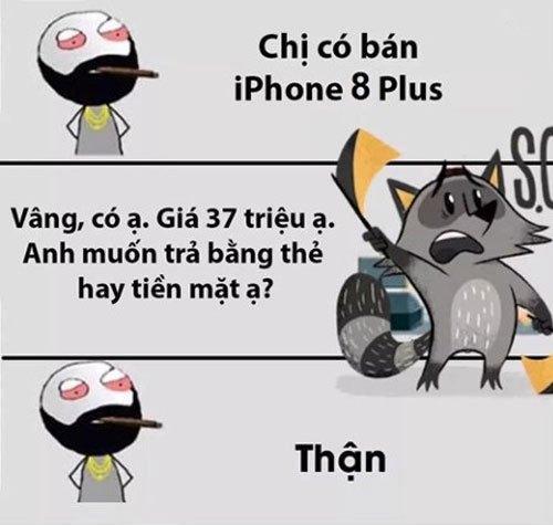 Mất một quả thận thôi mà mua được chiếc iPhone 8 Plus, anh đây quá thông minh!
