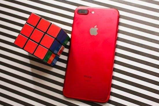 Rubit cũng phải chào thua với màu của iPhone 7 màu đỏ