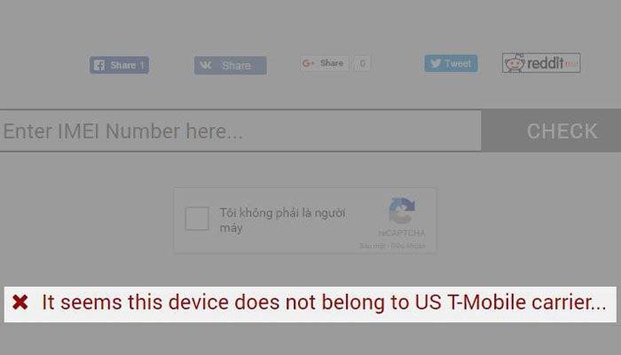"""Nếu gặp dấu """"X"""", bạn phải tiếp tục thực hiện kiểm tra điện thoại ở những nhà mạng khác"""