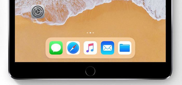 Thanh dock trên iPhone 8 tương tự iPad iOS 11