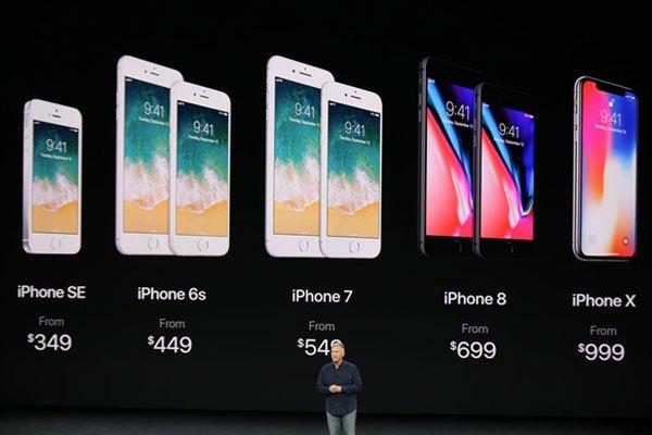 Giá bán điện thoại iPhone X là 999 USD