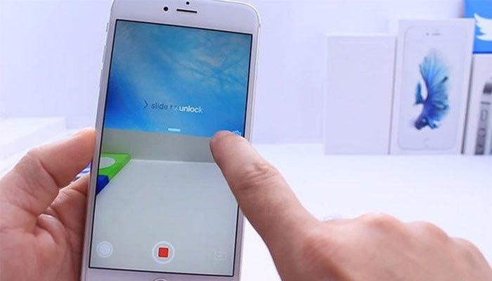 Quay phim trên điện thoại iPhone khi đang khóa màn hình