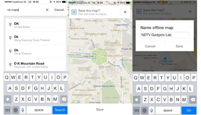 Không cần WiFi bạn vẫn có thể sử dụng Google Maps trên điện thoại iPhone