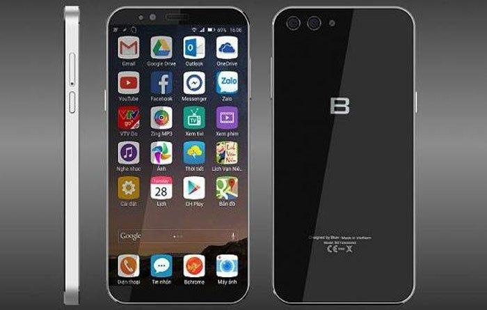 2 mặt của điện thoại BPhone 2 đều bằng kính
