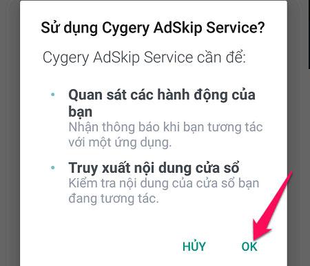 Sau cùng bạn nhấn OK để xác nhận là có thể chặn quảng cáo Youtube trên điện thoại Android